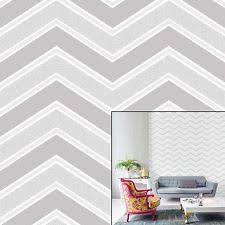 coloroll chevron grey wallpaper m1146 feature glitter geometric