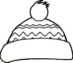 Winter Hat Coloring Pages winter hat coloring page 12198
