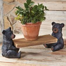 black bear log rocking chair home rustic my dream home