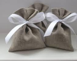 linen favor bags grey linen bag etsy