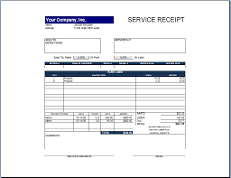 simple and easy to use service receipt template sample for