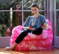 sheepskin bean bag chair small great for kids new colors