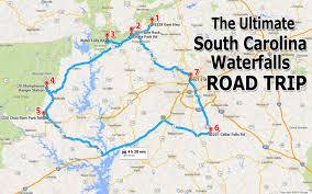 road map of south carolina the south carolina waterfalls road trip