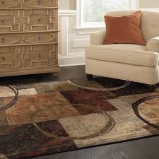 Black And Brown Area Rugs Blocks And Rings Brown Black Area Rug 5 U00273 X 7 U00276 Free Shipping