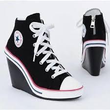 Jual Nike Wedge wedge sneakers ash skechers black white ebay