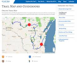 World Of Work Map by New Feature Rich Trail Map Launched Ice Age Trail Alliance