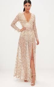 gold maxi dress valentina gold premium sequin sleeve maxi dress dresses