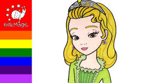 coloring pages drawing and coloring princess amber sofia the