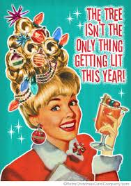 retro christmas cards christmas party invitations retro woman retro christmas