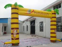 2018 easy set up cheaper advertising palm tree arch with
