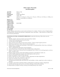 Sample Resume Cook Objectives by Dietary Aide Resume Objective Free Resume Example And Writing
