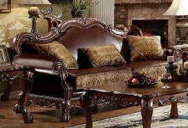sofa dresden acme dresden wood trim cherry oak sofa usa furniture