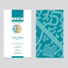 brain icon design u0026 business card template for neuroscience