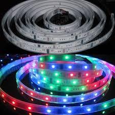 Jual Lu Neon Dc 12 Volt 5m 5050 rgb color 6803 ic led light waterproof ip67 12v