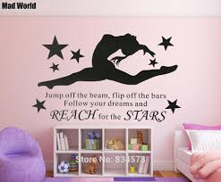 aliexpress com buy mad world aerobics rhythmic gymnast gymnastic aliexpress com buy mad world aerobics rhythmic gymnast gymnastic girls females wall art stickers wall decal home decoration removable wall stickers from