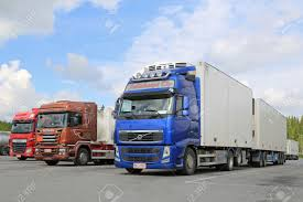 2015 volvo truck hirvaskangas finland june 20 2015 volvo fh scania and daf