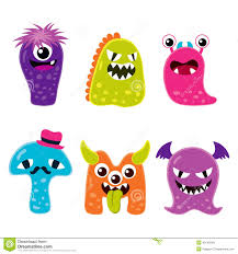 cute monster mascot characters stock vector image 43140540