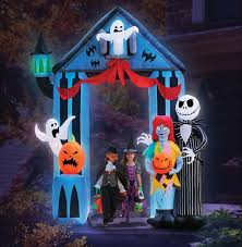 halloween inflatable amazon com halloween 9 u0027 nightmare before christmas archway with