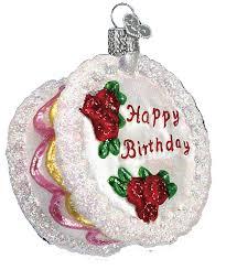 old world christmas ornaments birthday cake 32106