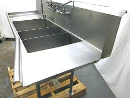 3 compartment sink faucet commercial triple sink kitchen sink triple basin used 3 bay sink