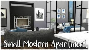small modern apartment the sims 4 speed build small modern apartment cc links youtube
