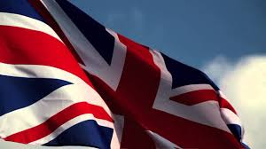 British Flag With Red British Flag With Blue Sky Bg Stock Video Youtube