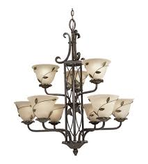 Progress Lighting 5 Light Chandelier Progress P4024 77 Eden 9 Light 31 Inch Forged Bronze Chandelier