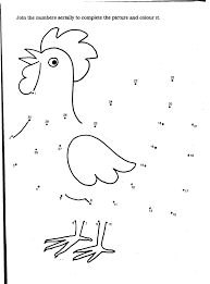 coloring page of a chicken coloring pages coloring number animal coloring pages