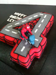 spiderman number cake kids pinterest number cakes cake and