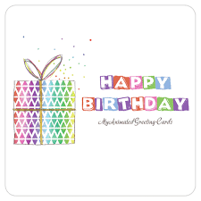 happy birthday animated gift box banner birthday card