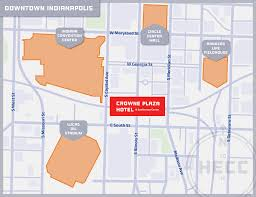 Map Of Downtown Indianapolis Exhibitors Hecc