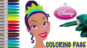 disney princess tiana coloring fun coloring activity