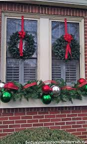 christmas window decorations christmas decorating ideas for porches doors and windows