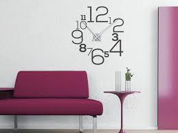 wandtattoo uhr tenstickers design moderne wanduhren