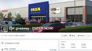 ikea norwich facebook group offering 5k prize is a fake anglia