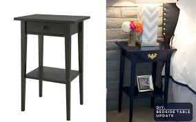 Ikea Hemnes Side Table Diy Ikea Nightstand Transformed Blonded By Style