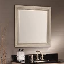 Walmart Bathroom Mirrors by Hazelwood Home Ulrich Square Wood Bathroom Mirror Walmart Com