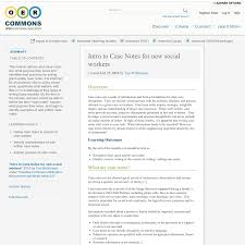 intro to case notes for new social workers oer commons