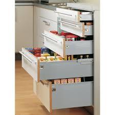 tiroirs de cuisine kit tiroir multitech hauteur 150 mm coulisse à galets hettich