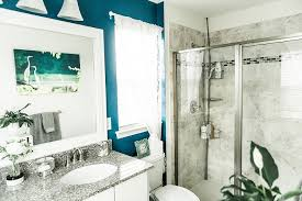 diy bathroom mirror frame stephanie messick blog