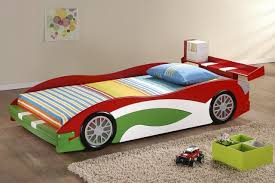 Car Bed Frames Simple Contemporary Boys Room Design With Green White