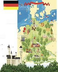 Map Of Munich Germany by Cartoon Map Of Germany With A Castle And Trees Stock Vector Art