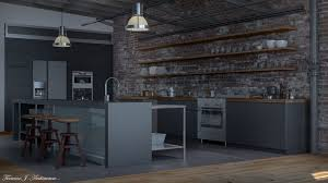 3 Stylish Industrial Inspired Loft Loft Kitchens Google Search Kitchens Pinterest Loft