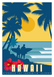 Hawaii Travel Art images Hawaii vintage poster vintage travel poster art deco travel jpg