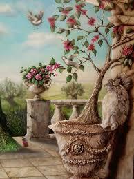fresque carrelage mural peinture murale de paysage provençal fresque et peinture murale