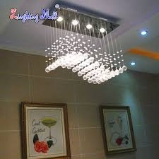 High Quality Chandeliers High Quality Wave Shaped K9 Crystal Chandeliers Led Hanging Wire