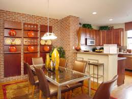 brick accent wall dining bruno tarsia brick walls industrial