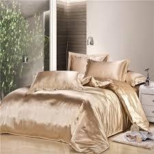 Bed In Bag Sets Luxury Beige Silk Satin Bed In Bag Duvet Cover Hotel Bed Linen