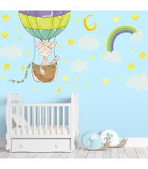 heißluftballon kinderzimmer nikima 077 wandtattoo giraffe ballon kinderzimmer