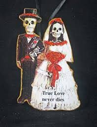 Wedding Day Card For Groom Bride And Groom Skeleton Ornament Handcrafted Wood Valentine Gift